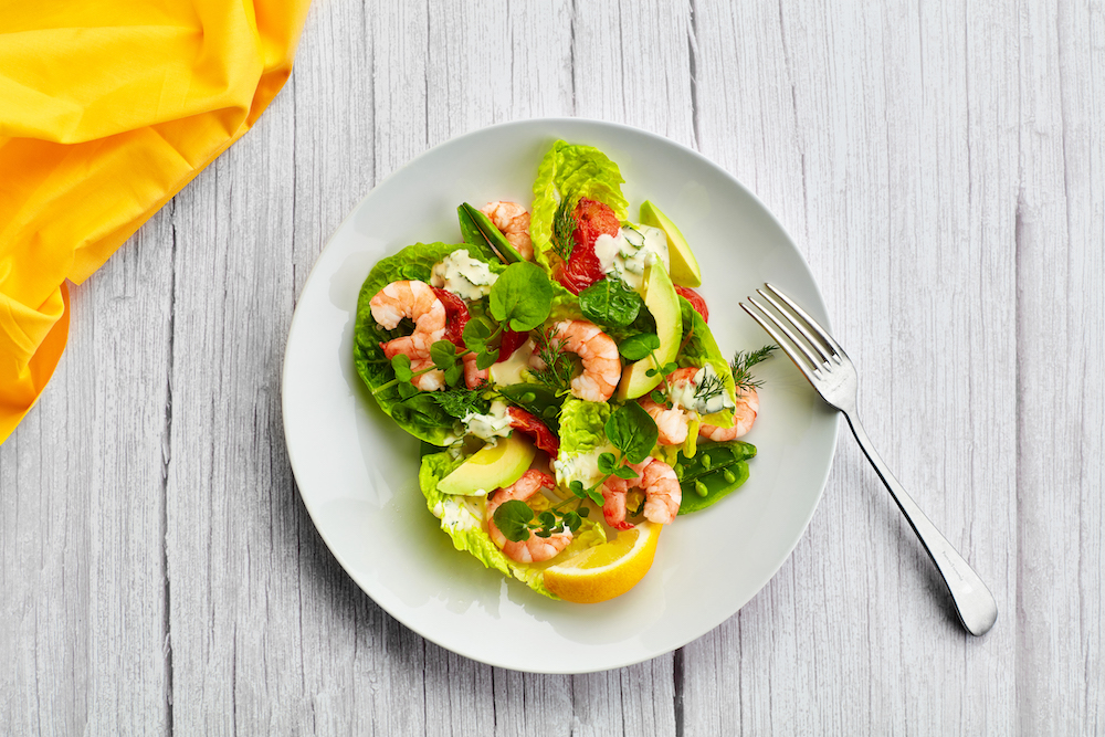 Blue Earth Foods prawn dish